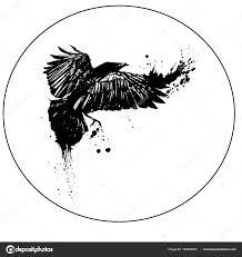 полет птиц ворона эскиз векторное изображение Littlemagic 162059394