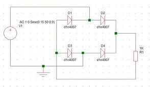 full wave rectifier circuit through bridge rectification 5 steps picture of basic circuit diagram