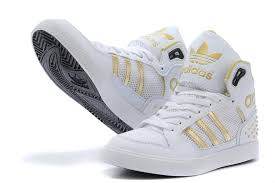 adidas shoes gold and white. 2014 new adidas high-top shoes for women white gold and