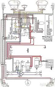 wiring diagram in color 1964 vw bug, beetle, convertible the samba Simple Wiring Diagrams o!o 1965 volkswagen type 1 beetle diy project 310058