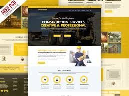 Website Template Free Delectable Freebie Construction Company Website Template Free PSD By PSD
