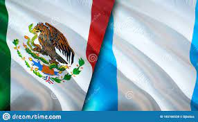 Mexico And Guatemala Flags. 3D Waving ...