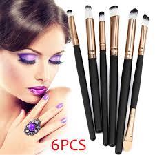 details about 1 set of 6pcs cosmetic makeup brush lip makeup brush eyeshadow brush black uk