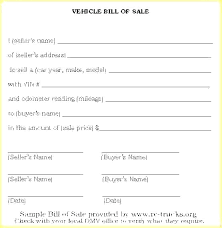 Editable Bill Of Sale Template Motorcycle Bill Of Sale