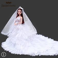 Bela  <b>1PC</b> white <b>wedding</b> dress Mantila party <b>mini</b> dress Barbie Doll ...