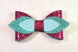 hair bow template svg diy leather bow template example image 1