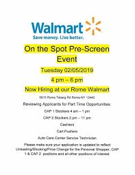 Walmart Application Walmart Hiring Event Working Solutions