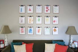 inexpensive wall art ideas create a clipboard wall