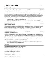 Nursing Resumes Examples Adorable Er Nurse Resume Example Resume Examples Registered Nurse Resume