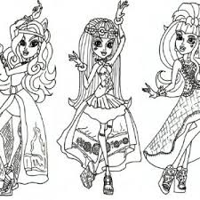 Small Picture Monster High Coloring Pages Monster adult