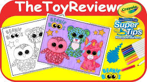 Beanie Boos Coloring Book Page Crayola Marker Babies Unicorn