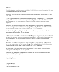 Business Introduction Letter Format Scrumps