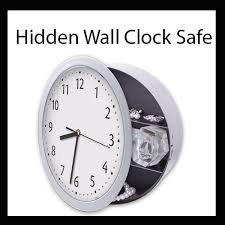 wall clock with safe