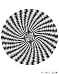 Horizontal lines trick your brain into believing how a good optical illusion can leave you dazed and confused, scratching your head for the correct answer, while your brain teases you. Adult Zen Anti Stress Difficult Optical Illusion 1 Coloring Pages Printable