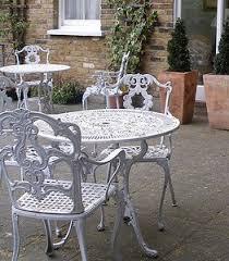 Peaceful Design Ideas White Wrought Iron Patio Furniture Antique