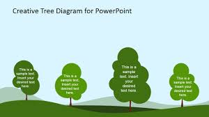 creative tree diagram powerpoint template   slidemodel    tree diagram  forest illustration for powerpoint