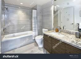 Modern Marble Bathroom Designs Modern Stylish Bathroom Design Marble Vanity Stock Photo