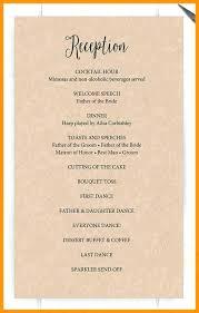 Wedding Template Microsoft Word Wedding Reception Format Free Downloadable Program Templates