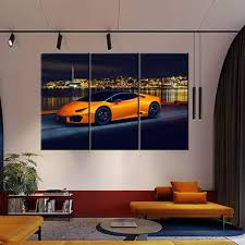 April 23, 2020 the $5.4 million bugatti divo is finally here great news if you're one of the fortunate few who ordered it, but all 40 examples are sold—to chiron owners. Amazon Com Large Various Types Big Pictures Classic Car Canvas Wall Art Framed Orange Boys Fast Car Cool Sports Poster 3 Panel 3d Diamond Print Painting 40 X 20inch X 3 Panels Everything Else
