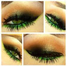 fantastic green eye makeup idea