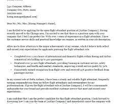 Sample Cover Letter Flight Attendant Application Letter Flight