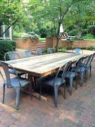 patio tables furniture rectangle table made of wood with rustic style chairs argos and cover