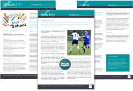 newsletter template for pages create your own school newsletter