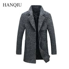 long coat mens long coat men winter overcoat wool thick jacket long winter coat mens uk