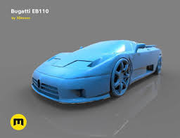 15 litres of oil in the dry sump lubrication ensured sufficient engine lubrication. The Mid Engine Sport Car Bugatti Eb110 3d Print Model