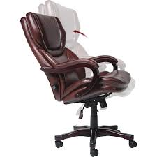 serta at home 43506 big and tall eco friendly bonded leather executive office chair in