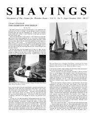 Hampton One Design Shavings Volume 5 Number 5 September October 1983 By The