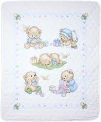Cross Stitch Quilt Kits - Quilting-Warehouse & Baby Bears Quilt Stamped Cross Stitch Kit Adamdwight.com
