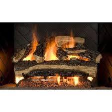 mountain oak 18 in vented natural gas fireplace log set