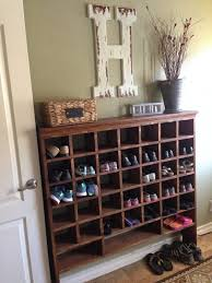 Build a Vintage Mail Sorter Shoe Cubby | Mail sorter, Organizing ...