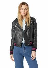 soia kyo women s arisa er fit leather jacket xs