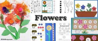 flowers activities crafts lesson plans for preschool and kindergarten