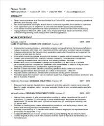 Business Analyst Resume Examples Resume Business Analyst Sample Best