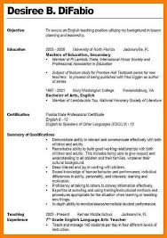 Objective For Teaching Resume objective for teaching resumes Tolgjcmanagementco 69