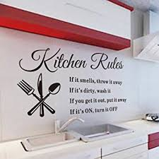 get quotations luckkyy kitchen rules nifty words kitchen wall decals vinyl wall sticker quote decals wall art on kitchen wall art lettering with cheap wall art decals for kitchen find wall art decals for kitchen
