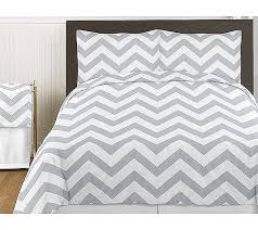 grey white chevron print bedding set 3 piece queen size