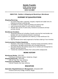 shipping and receiving resume. shipping and receiving resumes Holaklonecco
