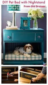 diy4ever diy pet bed with nightstand from old dresser p diy pet bed with nightstand