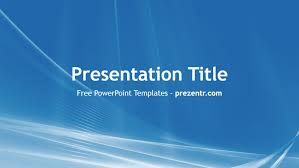 Blue Power Point Templates Free Blue And White Powerpoint Template Prezentr
