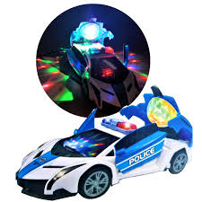 Disco Light Spinner Amazon Com Police Car Toy Stunt Car 360 Spinning Police