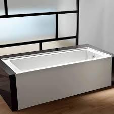 kingston brass vtde603122r alcove acrylic bathtub