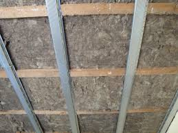 soundproof ceiling insulation. Unique Insulation DFM Acoustic Insulation Inside Ceiling Joists With Soundbreaker Bars Inside Soundproof Ceiling Insulation N