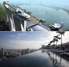 infinity pool singapore hotel. Marina Bay Sands Hotel Swimming Pool - Singapore. The Infinity Pool Is  Located On Top Of The Three Towers Singapore Hotel P