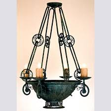 97100 c brocante chandelier with down light