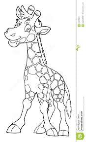 Animal De La Historieta Jirafa Caricatura P Gina Del Colorante