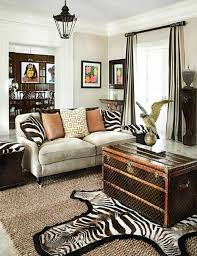 Zebra Rug Living Room Adorable Safari Living Room Decor Black And White Fabric Zebra Rug